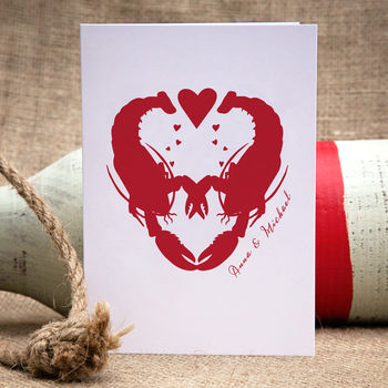 Lobster Love Personalised Card