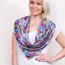 Blossoms Square Silk Scarf