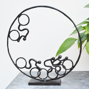Velodrome Cycling Sculpture - sculptures
