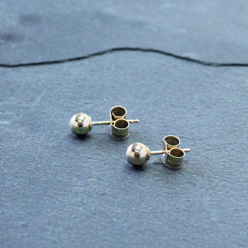 Classic Gold Ball Stud Earrings