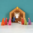 Thumb handmade wooden nativity scene
