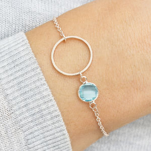 Personalised Circle Of Life Birthstone Bracelet