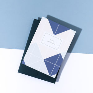'Bon Anniversaire' Card, Imperial Blue Envelope
