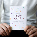 Personalised Embroidery Milestone Age Birthday Card