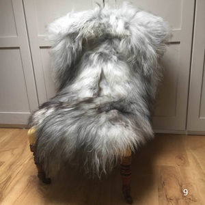 Finest Icelandic Natural Grey Sheepskin - blankets & throws
