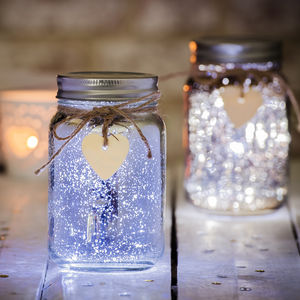 Sparkle LED Jam Jar Light - furnishings & fittings