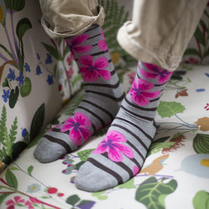 Floral Fine Sock - underwear & socks