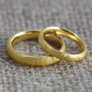Pair Of Court Profile 18ct Gold 'Lochy' Wedding Bands - rings
