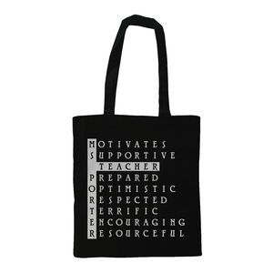 Personalised Teacher Tote Shoulder Bag - shopper bags