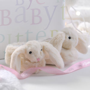 Furry Bunny Gift Boxed Baby Slippers - clothing