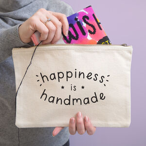Happiness Is Handmade Project Pouch