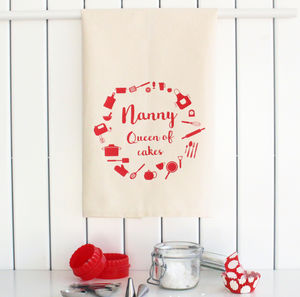 Personalised Baking Tea Towel - kitchen