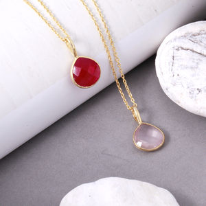 Heart Gemstone Pendant Necklace - necklaces & pendants