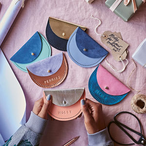 Personalised Leather Coin Purse - gifts for tweens