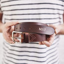 Personalised Mens Leather Belt