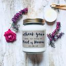 Personalised 'Thank You' Maid Of Honour Soy Candle