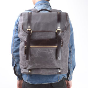 Extra Large Waxed Canvas Backpack - backpacks