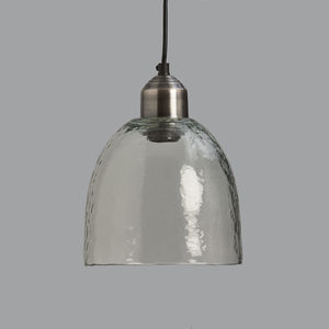 Rippled Glass Pendant Light - pendant lights