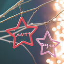 Personalised Acrylic Star Name Christmas Decoration
