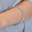 Silver Friendship Between Mother And Daughter Bangle