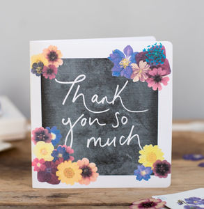 'Thank You So Much' Floral Print Card - shop by category