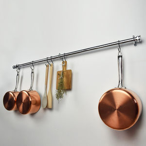Chunky Commercial Chrome Pan Rail - kitchen