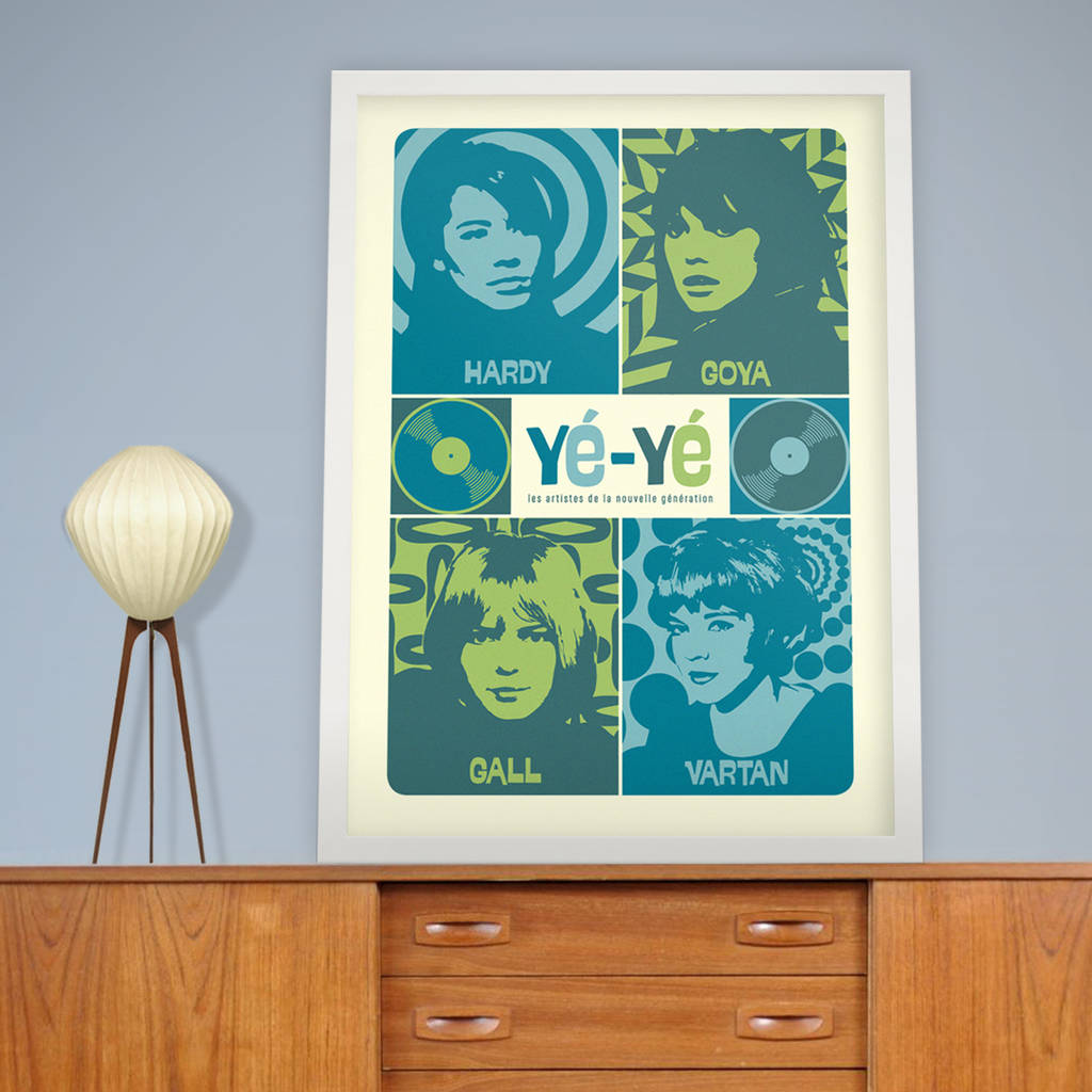Y Y Girls Of French Pop Stereo Typist Print By The Stereo Typist