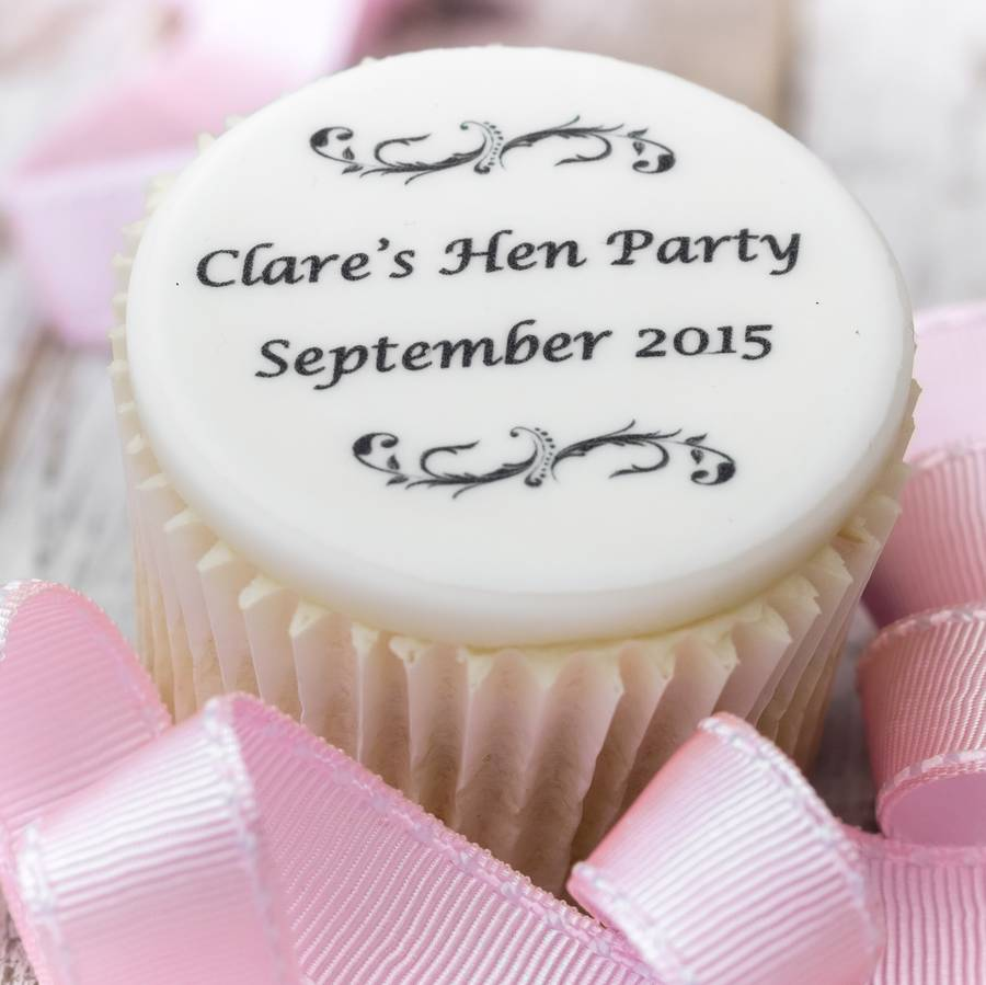 hen party cupcake decorations by just bake | notonthehighstreet.com