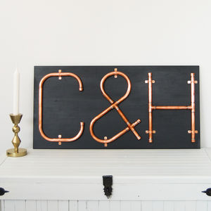 Copper Letters And Symbols Mounted Wall Art - decorative accessories
