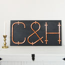 Copper Letters And Symbols Mounted Wall Art