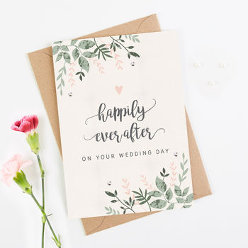 Wedding Card Botanical Blush