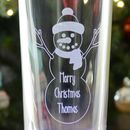 Personalised Snowman Engraved Christmas Glass