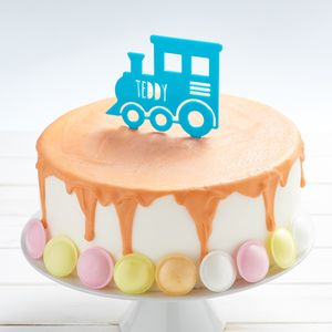 Personalised Train Birthday Cake Topper - cake decoration
