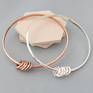 50th Birthday Silver Bangle