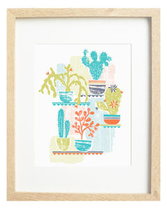 Cactus Limited Edition Screen Print