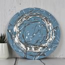 Original Abstract Painting Broken Circle In Silver