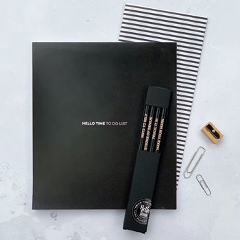 Hello Time To Do Pad, Pencil Pack Stationery Gift Set