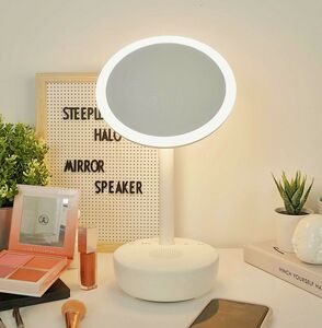 Halo Makeup Mirror And Bluetooth Speaker