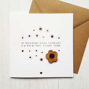If Mother's Were Flowers Gold Foil Greetings Card
