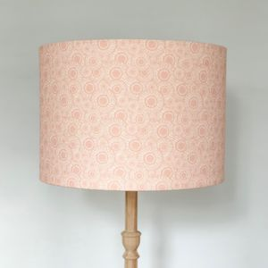 Peach Blush Dahlia Flower Lampshade