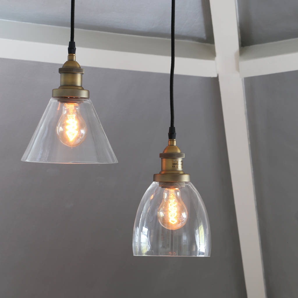 Vintage Style Glass Pendant Lights By Primrose & Plum