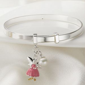Personalised Fairy Christening Bangle | Two Colours