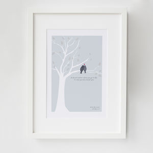 Personalised Love Birds Anniversary Print