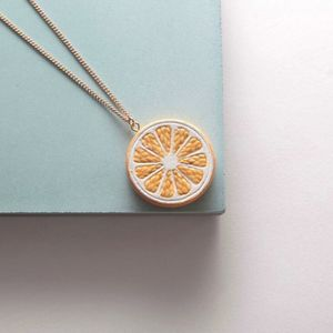Citrus Slice Necklace