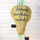 'Bloody Love Riding My Bike' Gold Bike Rain Seat Cover