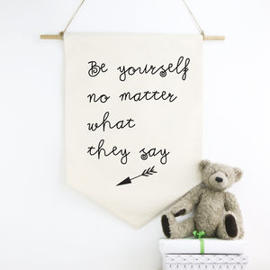 Be Yourself Nursery Wall Hanging - wall hangings for children