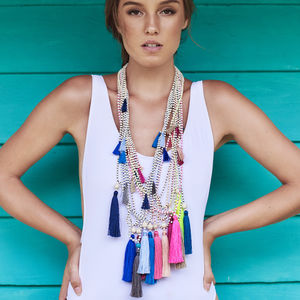 Lupita Long Tassel Necklace - fringing & tassels