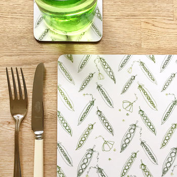 Set Of Four Peas Placemats
