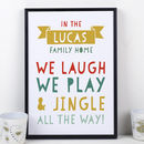 Personalised Family Name Christmas Print