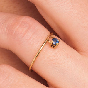 18k Gold 'Kinetic' Sapphire Ring - rings